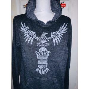 Zumiez Gray Tribal Eagle Hoodie 🤍